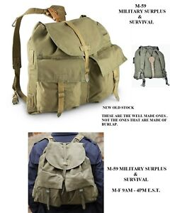 high fashion speical offer latest Details about Vintage Czech Army Backpack - NEW OLD STOCK -THESE ARE NOT  THE CHEAP BURLAP BAGS