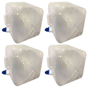 4x Wasserkanister faltbar 14l Camping Wasser Kanister Trinkwasserkanister Hahn