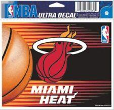 "Miami Heat 5""x6"" Ultra Decal [NEW] Car Auto Static Cling Sticker NBA"