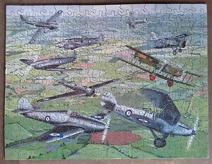 Puzzle-bois-decoupe-main-VICTORY-COMPLET-350-pieces-ancien-Vera