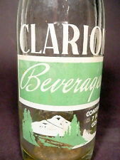 vintage ACL Soda POP Bottle:  CLARION of CLARION / KANE, PA - 7 oz. ACL