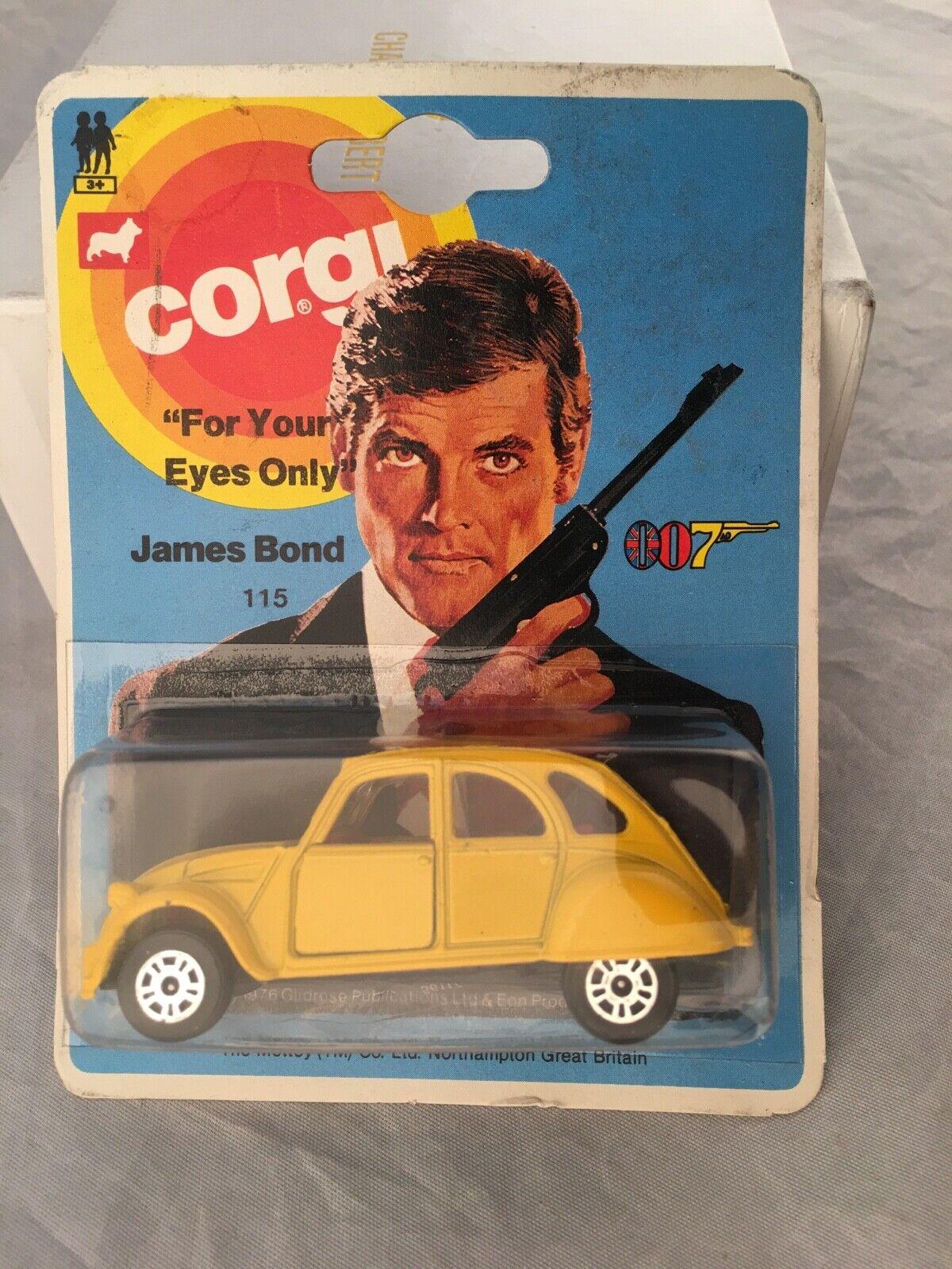VINTAGE CORGI JAMES BOND 1976 CITROEN 2CV6-EXCELLENTE CARTE no price tag