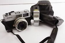 Canon Canonet 28 in case + hood and flash