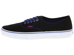 1b60b1b6cd9 VANS Authentic Pop Black Royal Blue Men US Size 12 VN-0TSV8QW