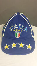 Italia Italy Soccer Futbol Toddler Infant Hat 3D 4 Stars Embroidered Flag Cap