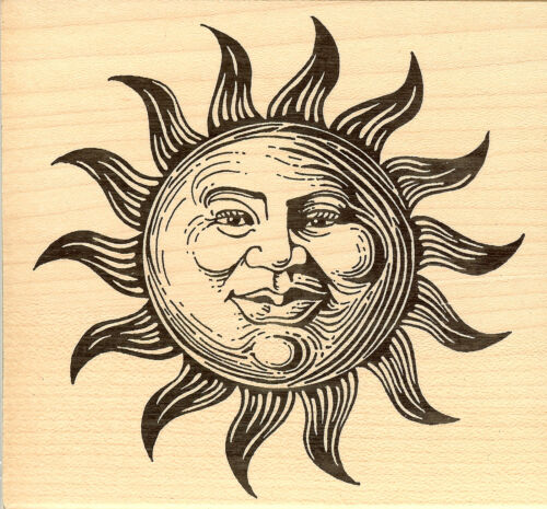 NEW Wood Mounted Rubber Stamp JUDIKINS Mr Sun 2124H