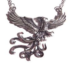 SILVER PHOENIX PENDANT NECKLACE Harry Potter fire bird fantasy mystical new 4E