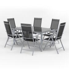 Alu Gartenmöbel 6+1 Sitzgruppe 150er Tisch Gartengarnitur Gartenset Sitzgarnitur