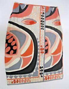 I40 Pastel print Us maat Emilio Pucci 6 Euc rok abstracte f8qxwRpP