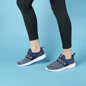 Women-039-s-Athletic-Walking-Running-Shoes-SlipOn-Casual-Comfort-Sneakers-Navy-Blue