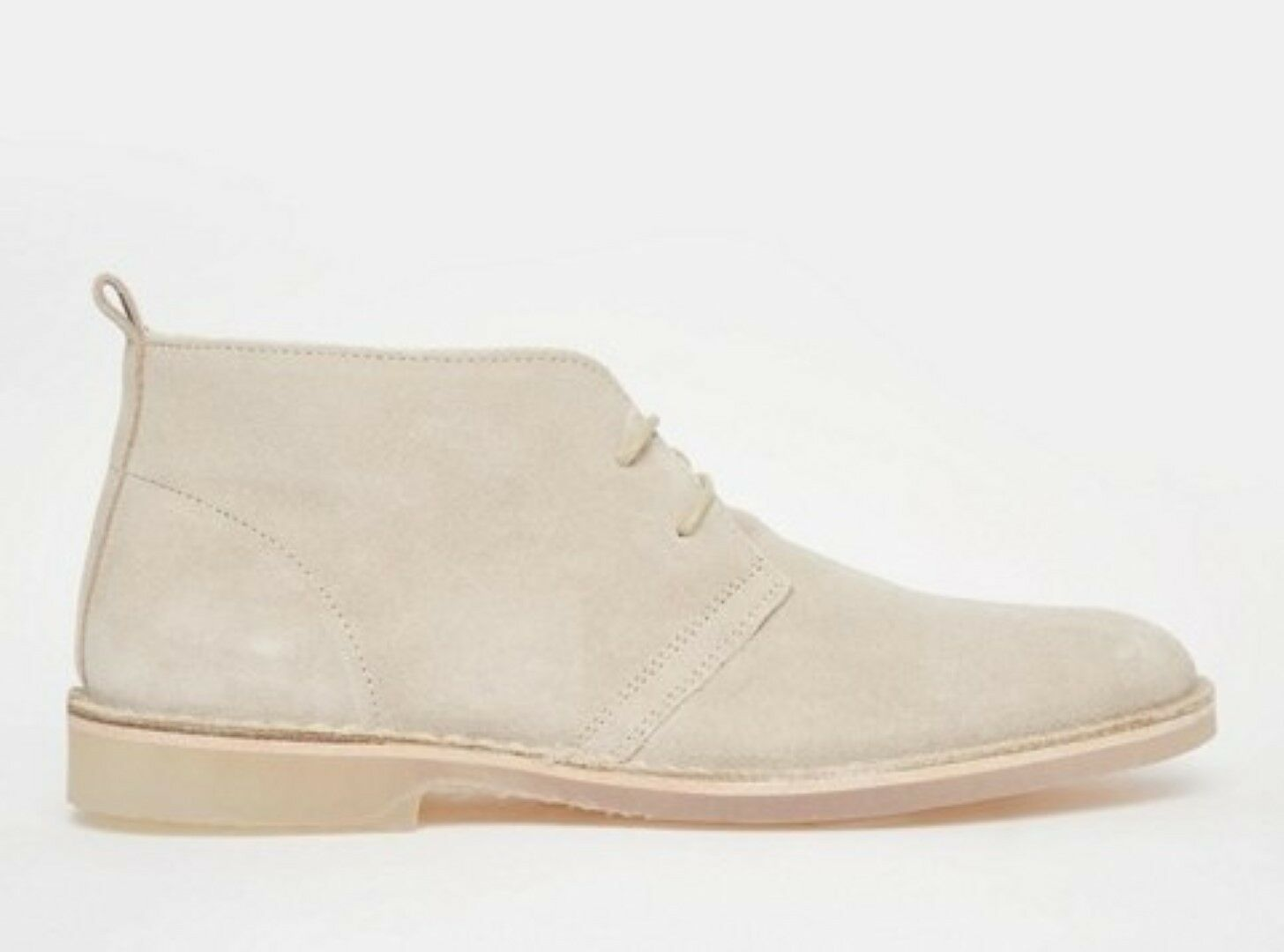 Standard Fortyfive Men's Jacoby Beige Suede Leather Desert Boots
