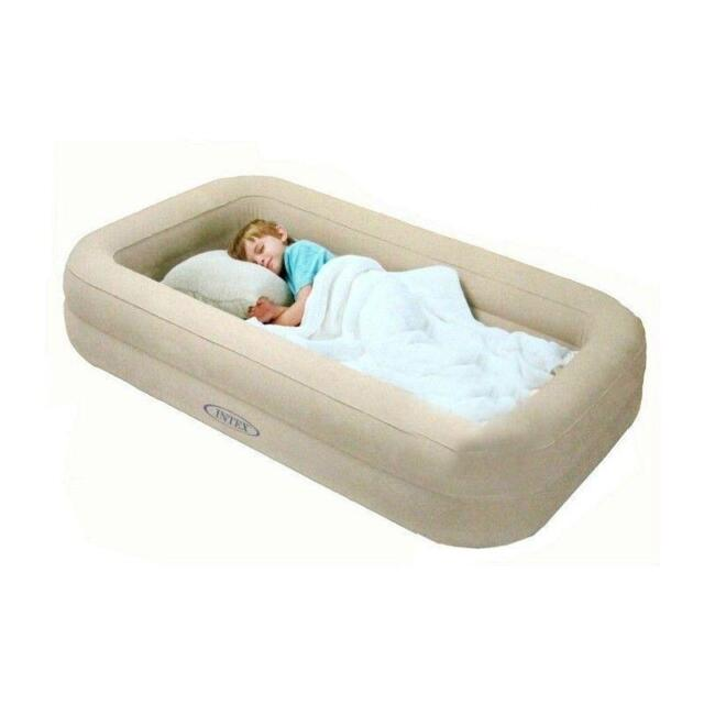 Toddler Bed Air Mattress.Kids Travel Bed Inflatable Portable Folding Toddler Air Mattress Child Spare Cot