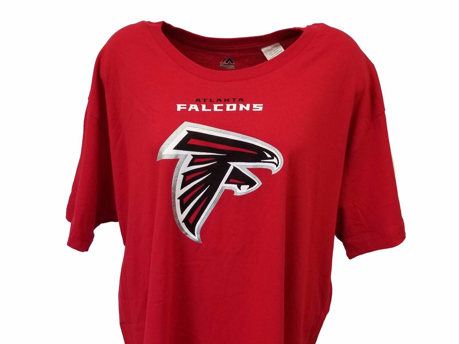 NFL T-Shirt Red Women's Plus Size 1X 2X