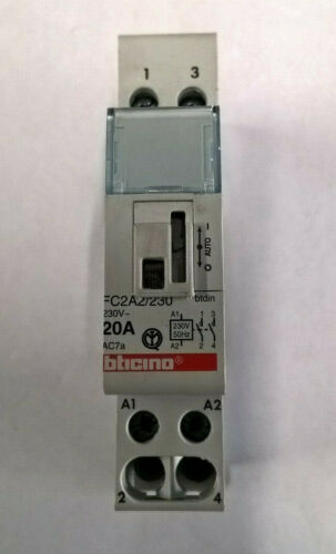 N°1 BTICINO FC2A2//230 Contattore 20A 230V 2NO BTDIN