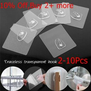 Anti-skid-Hooks-Reusable-Transparent-Traceless-Wall-Hanging-Hooks-2-10pcs