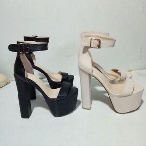 Women-039-s-Fashion-Stiletto-Sandals-High-Heels-Belt-Buckle-Peep-Toe-Platform-Shoes