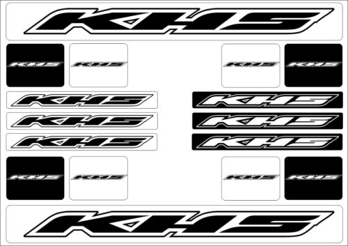 KHS Mountain Bicycle Frame Decal Stickers Graphic Adhesive Set Vinyl White