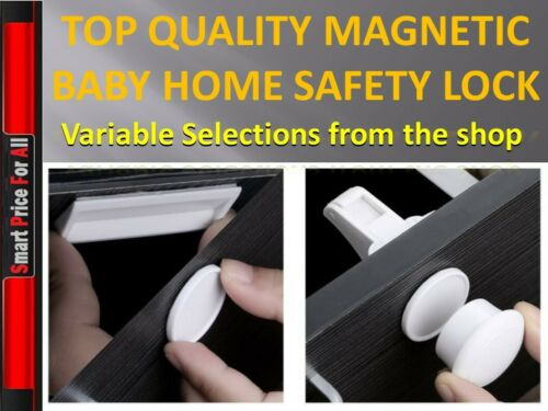 Magnetic Baby Child Pet Proof Cupboard Door Drawer Safety Lock Catch UK seller