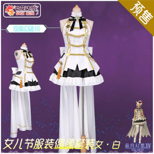 Final Fantasy XIV FF14 Hinamatsuri Idol Suits Female Cosplay Costume Free Ship
