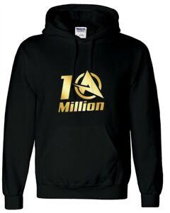 Ali-A 10 Million Kids Hoodie Inspired Gaming Gamer You tuber hooded Hoodie
