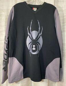 Men-039-s-SPYDER-Long-Sleeve-Crew-Neck-T-shirt-Black-Size-L