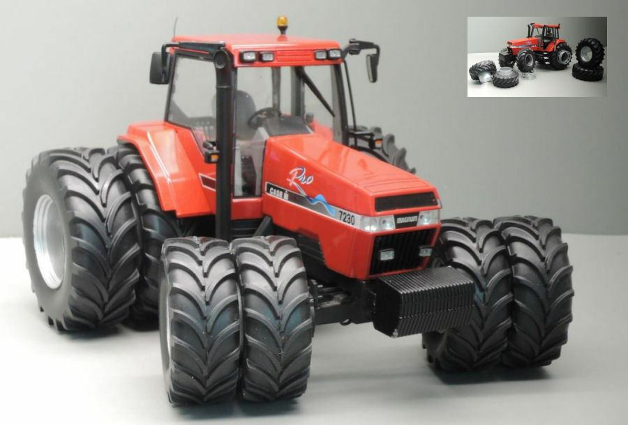 Case IH Magnum 7230 Pro 8 Wheels Tractor 1:32 Model REPLICAGRI | Belle Qualité