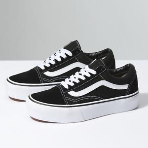 6b842b27f852 New Vans Old Skool Platform Black Skateboarding Shoes Classic Canvas ...