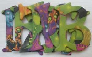"""WiTCHES BREW ~ Halloween Alphabet Chipboard Letters /& Die Cuts 1.5/"""""""