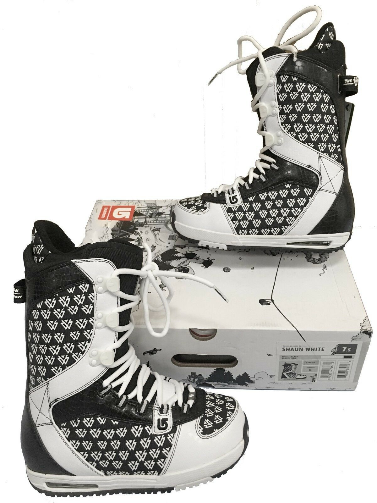 NEW  270 Burton Shaun White Snowboard Boots   US 7.5 Mondo 25.5 Euro 40.5