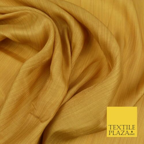WARM GOLD Soft Smooth Stripe Shimmer Polyester Woven Fabric Lining Salwar 1516