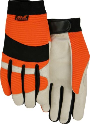 Majestic 2152THV Premium Pigskin Palm Hi-Vis Stretch Knit Back Gloves