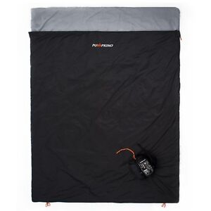 Details About Black Xl Ultralight Double Sleeping Bag For Backng In Hot Weather 3 Season