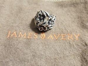 James Avery Retired Sterling Silver Three Dogwood Flower Ring Ebay
