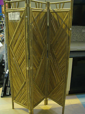 Bamboo Panel Folding Room Divider Privacy Screens - 3 Styles Available