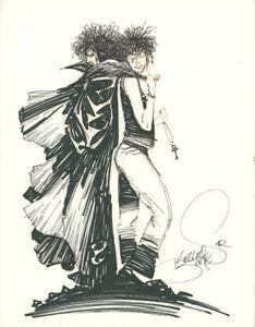KELLEY-JONES-Sandman-amp-Death-ORIGINAL-COMIC-ART-1992-Commission
