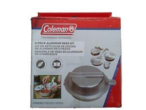 Coleman Camping Cookware | 5-Piece Aluminum Nesting Mess Kit