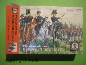 1-72-Waterloo1815-058-Napoleon-Preussen-Generalstab-Offiziere-zu-Pferd-Figuren