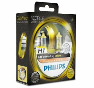 Philips-H7-Color-Vision-Yellow-12v-Colored-effect-Upgrade-Car-BULB-Twin