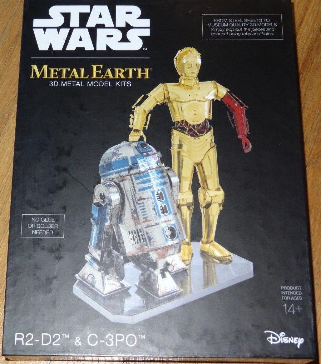 stjärnornas krig R2 -D2 & C -3PO Metal Ekonsth 3D Laser Cut modellllerler Kit låda Set MMG276