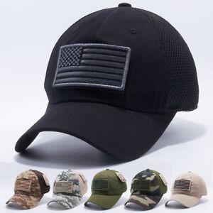 0e104007d44 Image is loading USA-American-Flag-hat-Detachable-Baseball-Mesh-Tactical-