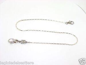 Dettagli su Catena per orologio da tasca tutto argento 925 cm. 38 ref. 0105