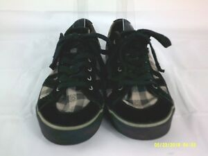 a994036e6ff preowned vans sneakers lace up black gray white plaid check size 9 ...
