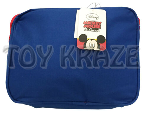 "MICKEY MOUSE BACKPACK /& LUNCH BOX SET BLUE RED BOYS SCHOOL 16/"" NWT 2 PC"