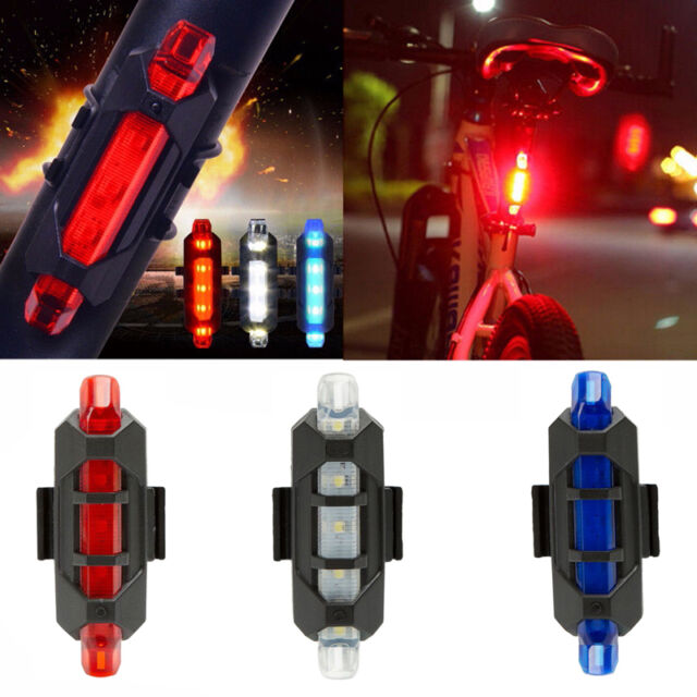 Cycling 5 LED USB Rechargeable Bike Bicycle Tail Warning Light Rear Safety 2017