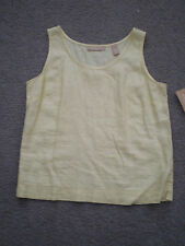 Kate Hill Casual Yellow Linen Tank - Size PM - NEW