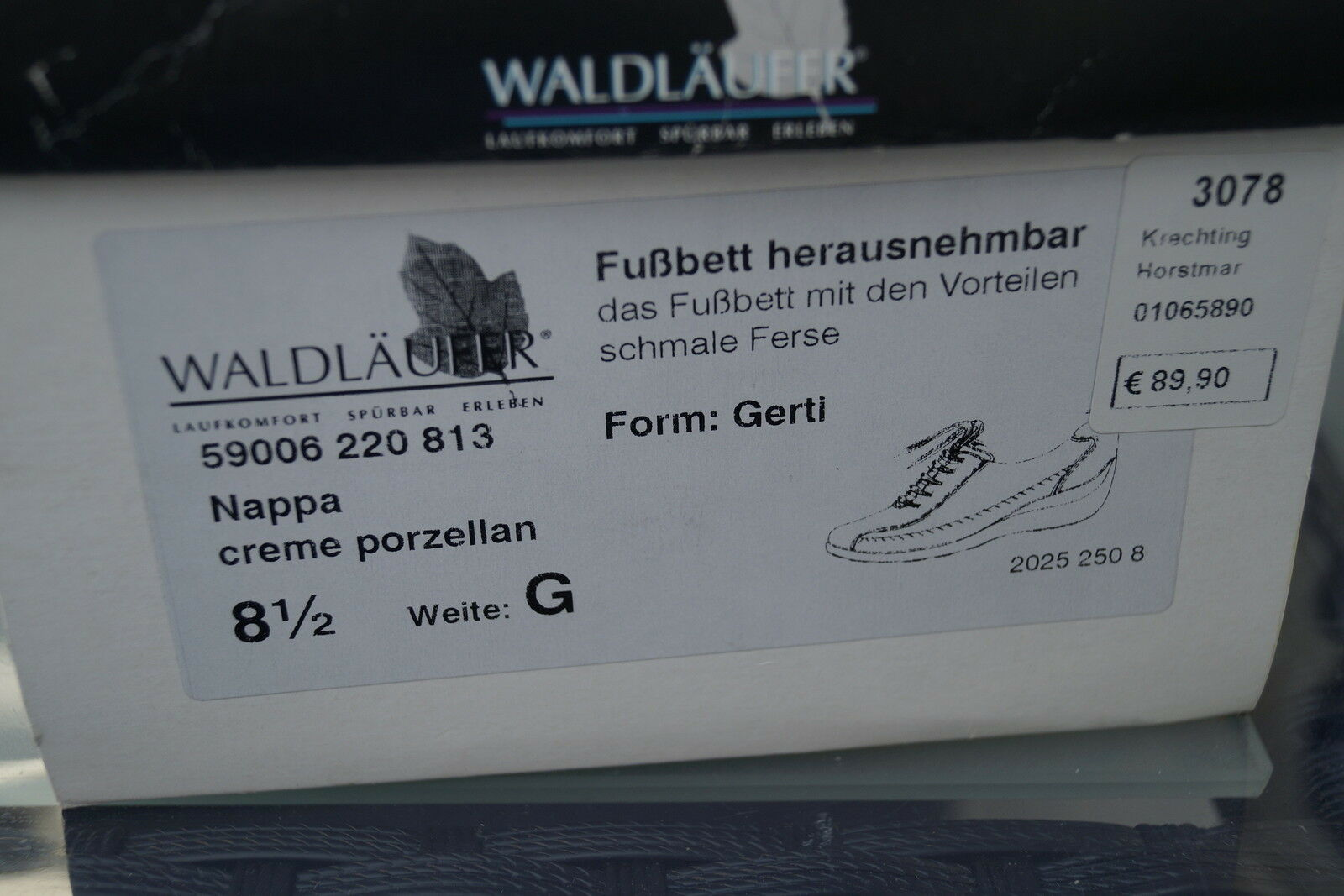 WALDLÄUFER Gerti Damen Comfort creme Schuhe Slipper Leder creme Comfort Einlagen Gr.8,5 G 42,5 ad8ac8