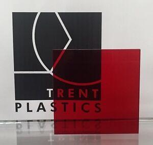 Responsable Red Teinté Perspex Acrylique Feuille De Plastique Couper à La Taille Teinte Cast Couleur Architec-afficher Le Titre D'origine Pour AméLiorer La Circulation Sanguine