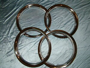 MGA Austin Healey Triumpth Volvo Steel Disc Wheel Trim Rings