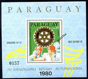 PARAGUAY - ROTARY Mi # Bl 353 SPECIMEN VF