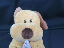 TY PLUFFIES 2004 CHRISTMAS STOCKING PUPPY DOG GOLDEN YELLOW PLUSH STUFFED ANIMAL